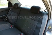Фото 2 - Чехлы MW Brothers Volkswagen T5 (2000-2010) грузовой (1+1), красная нить