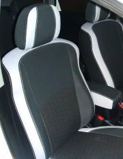 MW Brothers Mitsubishi Outlander XL (2006-2012), светлые вставки + серая нить