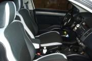 Фото 6 - Чехлы MW Brothers Mitsubishi Outlander XL (2006-2012), светлые вставки + серая нить