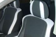 Фото 8 - Чехлы MW Brothers Mitsubishi Outlander XL (2006-2012), светлые вставки + серая нить