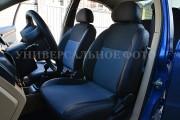 Фото 2 - Чехлы MW Brothers Volkswagen Polo sedan (2009-н.д.), синяя нить