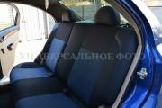 Фото 3 - Чехлы MW Brothers Volkswagen Polo sedan (2009-н.д.), синяя нить