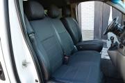Фото 3 - Чехлы MW Brothers Nissan Primastar (2001-2014) грузовой (1+2), серая нить