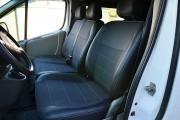 Фото 4 - Чехлы MW Brothers Nissan Primastar (2001-2014) грузовой (1+2), серая нить