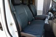 Фото 5 - Чехлы MW Brothers Nissan Primastar (2001-2014) грузовой (1+2), серая нить
