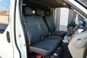 Фото 8 - Чехлы MW Brothers Nissan Primastar (2001-2014) грузовой (1+2), серая нить