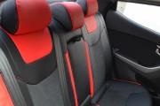 Фото 7 - Чехлы MW Brothers Hyundai Elantra V (MD) (2011-2015), красные вставки + красная нить