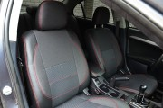 Фото 3 - Чехлы MW Brothers Mitsubishi Lancer X 2L (2007-2011), красная нить