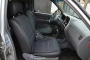Фото 5 - Чехлы MW Brothers Nissan NP300 II Double Cab (2007-н.д.), серая нить