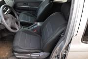 Фото 6 - Чехлы MW Brothers Nissan NP300 II Double Cab (2007-н.д.), серая нить