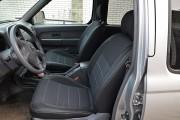 Фото 7 - Чехлы MW Brothers Nissan NP300 II Double Cab (2007-н.д.), серая нить
