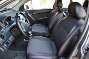 Фото 2 - Чехлы MW Brothers ZAZ Vida Hatchback (2012-н.д.), красная нить