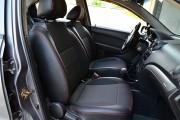 Фото 4 - Чехлы MW Brothers ZAZ Vida Hatchback (2012-н.д.), красная нить