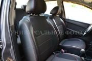 Фото 3 - Чехлы MW Brothers Volkswagen Jetta VI (2011-н.д) Trendline/Comfortline, красная нить