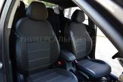 Фото 2 - Чехлы MW Brothers Opel Vivaro II (2014-н.д.) грузовой (1+1), серая нить