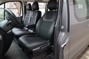 Фото 2 - Чехлы MW Brothers Opel Vivaro II (2014-н.д.) грузовой (1+2), серая нить