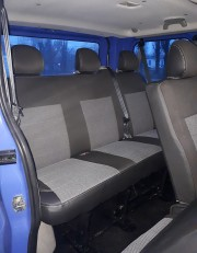 Фото 3 - Чехлы MW Brothers Renault Trafic II пассажир (2001-2014), серая нить
