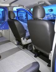 Фото 5 - Чехлы MW Brothers Renault Trafic II пассажир (2001-2014), серая нить