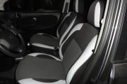 Фото 2 - Чехлы MW Brothers Nissan Note I (2005-2014), светлые вставки + серая нить
