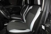 Фото 3 - Чехлы MW Brothers Nissan Note I (2005-2014), светлые вставки + серая нить