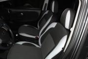 Фото 5 - Чехлы MW Brothers Nissan Note I (2005-2014), светлые вставки + серая нить