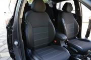 Фото 2 - Чехлы MW Brothers Hyundai Accent IV (Solaris) Hatchback (2011-2017), серая нить