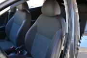 Фото 2 - Чехлы MW Brothers Hyundai Accent IV (Solaris) Hatchback (2011-2017), красная нить