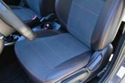 Фото 5 - Чехлы MW Brothers Hyundai Accent IV (Solaris) Hatchback (2011-2017), красная нить