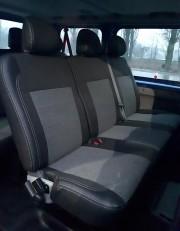Фото 2 - Чехлы MW Brothers Opel Vivaro I пассажир (2001-2014), серая нить