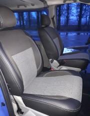 Фото 7 - Чехлы MW Brothers Opel Vivaro I пассажир (2001-2014), серая нить