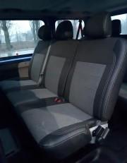 Фото 2 - Чехлы MW Brothers Nissan Primastar пассажир (2001-2014), серая нить