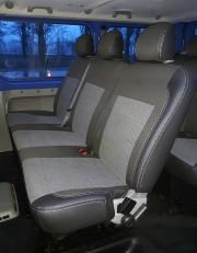 Фото 4 - Чехлы MW Brothers Nissan Primastar пассажир (2001-2014), серая нить