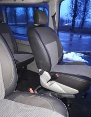 Фото 7 - Чехлы MW Brothers Nissan Primastar пассажир (2001-2014), серая нить