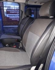 Фото 8 - Чехлы MW Brothers Nissan Primastar пассажир (2001-2014), серая нить