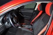Фото 8 - Чехлы MW Brothers Mazda 6 III (2013-2018), красные вставки + красная нить