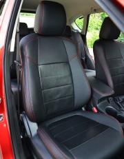 MW Brothers Mazda CX-5 (2012-2014), красная нить (натуральная кожа)