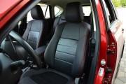 Фото 4 - Чехлы MW Brothers Mazda CX-5 (2012-2014), красная нить (натуральная кожа)