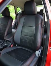 MW Brothers Mazda CX-5 (2015-2017) рестайлинг, красная нить (натуральная кожа)