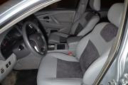 Фото 2 - Чехлы MW Brothers Toyota Camry XV 40/45 (2006-2011), светло-серые + графитовая алькантара