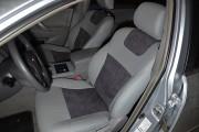 Фото 3 - Чехлы MW Brothers Toyota Camry XV 40/45 (2006-2011), светло-серые + графитовая алькантара