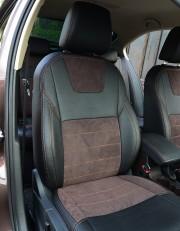 MW Brothers Skoda Octavia A7 Combi (2013-2020), коричневая алькантара + коричневая нить