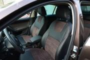 Фото 2 - Чехлы MW Brothers Skoda Octavia A7 Combi (2013-2020), коричневая алькантара + коричневая нить