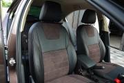 Фото 3 - Чехлы MW Brothers Skoda Octavia A7 Combi (2013-2020), коричневая алькантара + коричневая нить
