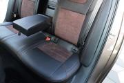 Фото 5 - Чехлы MW Brothers Skoda Octavia A7 Combi (2013-2020), коричневая алькантара + коричневая нить