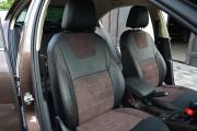 Фото 8 - Чехлы MW Brothers Skoda Octavia A7 Combi (2013-2020), коричневая алькантара + коричневая нить
