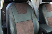Фото 6 - Чехлы MW Brothers Skoda Octavia A7 FL (Active, Ambition, Style) (2017-н.д.), коричневая алькантара + коричневая нить