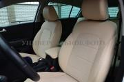 Фото 3 - Чехлы MW Brothers Lexus GX 470 (2003-2009), полностью бежевые + бежевая нить