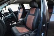Фото 2 - Чехлы MW Brothers Volkswagen Touareg II Life, TDI (2011-2018), коричневая алькантара + коричневая нить