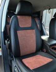 MW Brothers Volkswagen Touareg II Life, TDI (2011-2018), коричневая алькантара + коричневая нить
