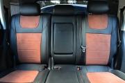 Фото 4 - Чехлы MW Brothers Volkswagen Touareg II Life, TDI (2011-2018), коричневая алькантара + коричневая нить